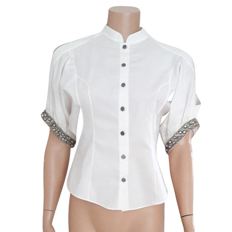 Zac Posen Weiße Bluse Weiß Rabattpreise Billige Mode Nw2NC
