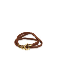 Salvatore Ferragamo Leather Gancini Bracelet