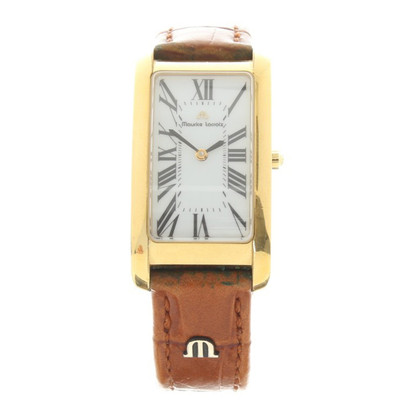 Maurice Lacroix Wristwatch in gold color / brown