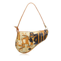 Christian Dior Printed Leather Mini Saddle