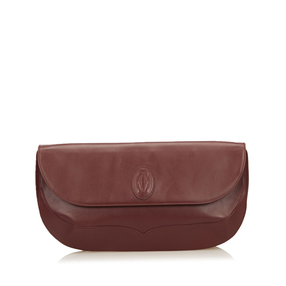Cartier Leather Must de Cartier Clutch