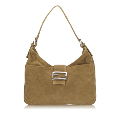 Fendi Corduroy Shoulder tas