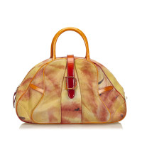 Christian Dior Printed Suede Saddle Dome