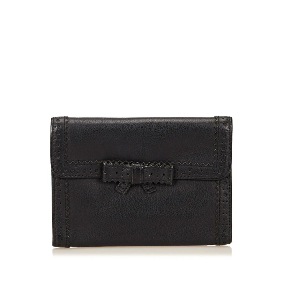 Miu Miu Perforated Leather Wallet