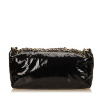 Chanel Patent Leather Chain Duffel Bag