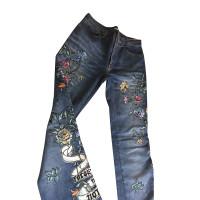 Roberto Cavalli Embroidered jeans