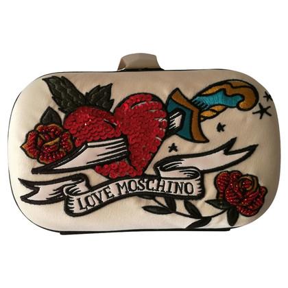 Moschino Love clutch Beige