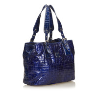 MCM Embossed Patent Leather Tote