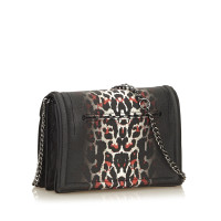 Alexander McQueen Leopard Print Gradient PVC Chain Shoulder Bag