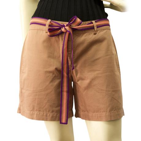 Missoni Shorts mit G眉rtel Braun