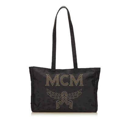 MCM Studded Nylon Shoulder Bag