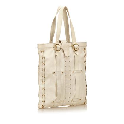 Valentino Verzierte Leder Tote Bag