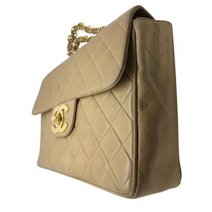 Chanel Tijdloze Chanel jumbo beige lederen