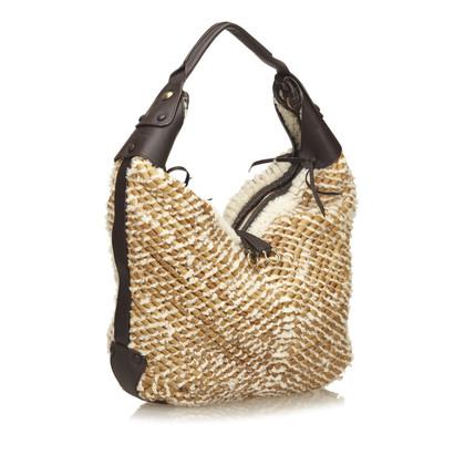 Salvatore Ferragamo Braided Mouton Shoulder Bag