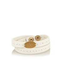 Fendi Leather Selleria Double Wrap Bracelet