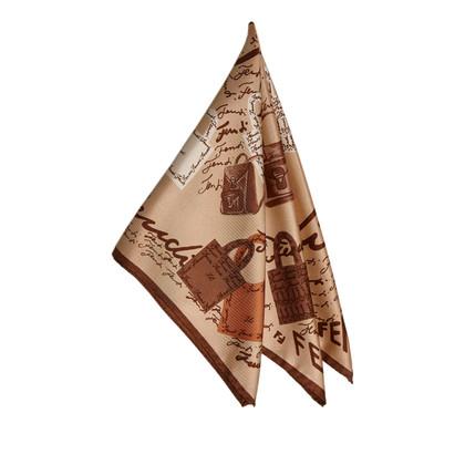 Fendi Sciarpa di seta stampata