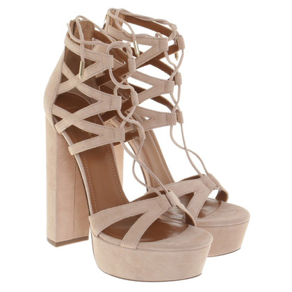 Aquazzura Plateausandalen in nude
