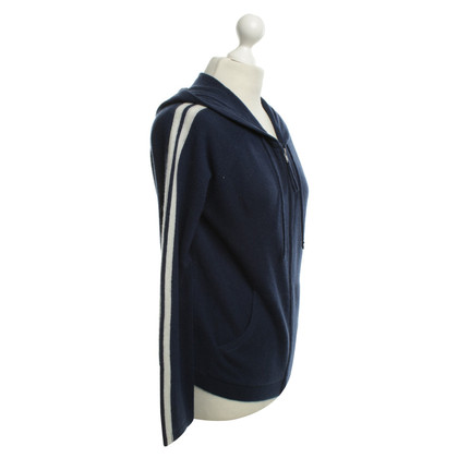 360 Sweater giacca di cachemire in blu
