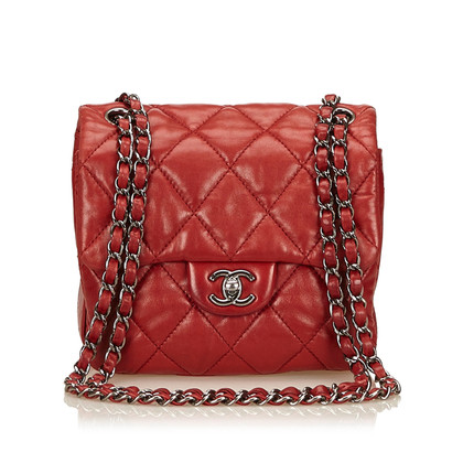 Chanel Red Quilted Chain Flap