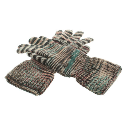 Missoni Knitted gloves in multi colored
