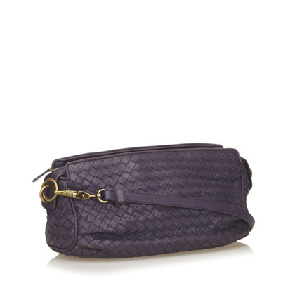 Bottega Veneta Leather Intrecciato Shoulder Bag