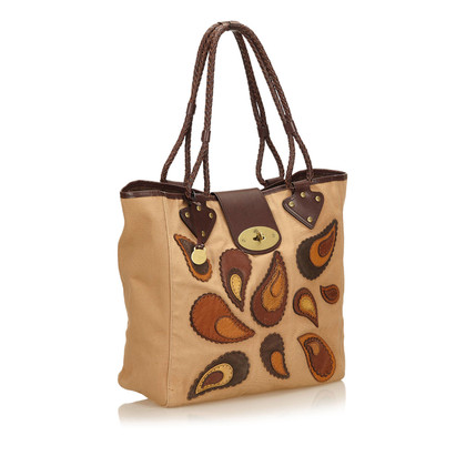 Mulberry Geborduurd Canvas tas