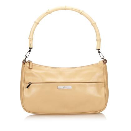 Gucci Bambus Leder Handtasche