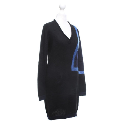 Costume National Knit dress in black / blue