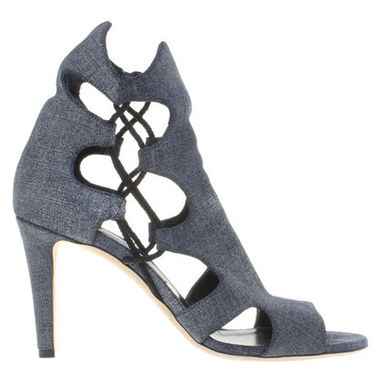 Jimmy Choo Peeptoes in blauw