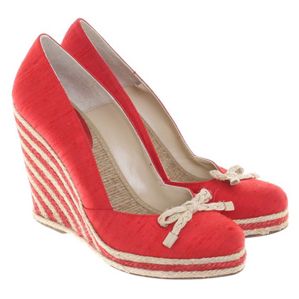 Kate Spade Wedges with sisal braid