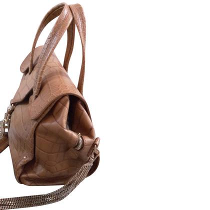 Bally Handtasche in Krokodilleder-Optik