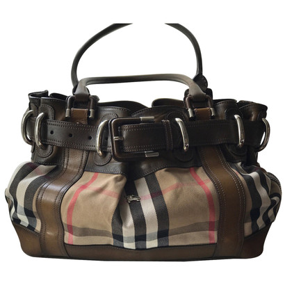 Burberry Shopper aus Textil/Leder