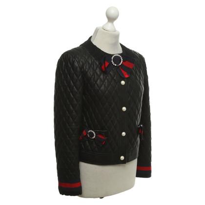 Gucci Lederen jas met broches