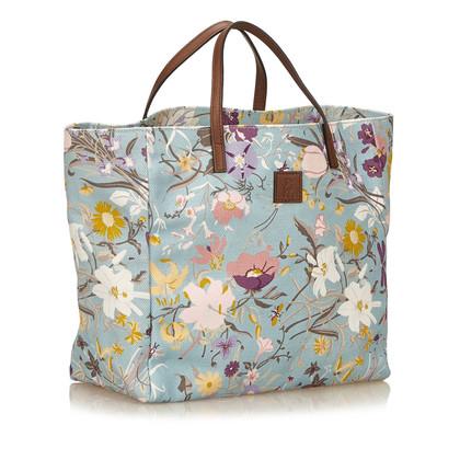 Gucci Printed Canvas Tote Bag