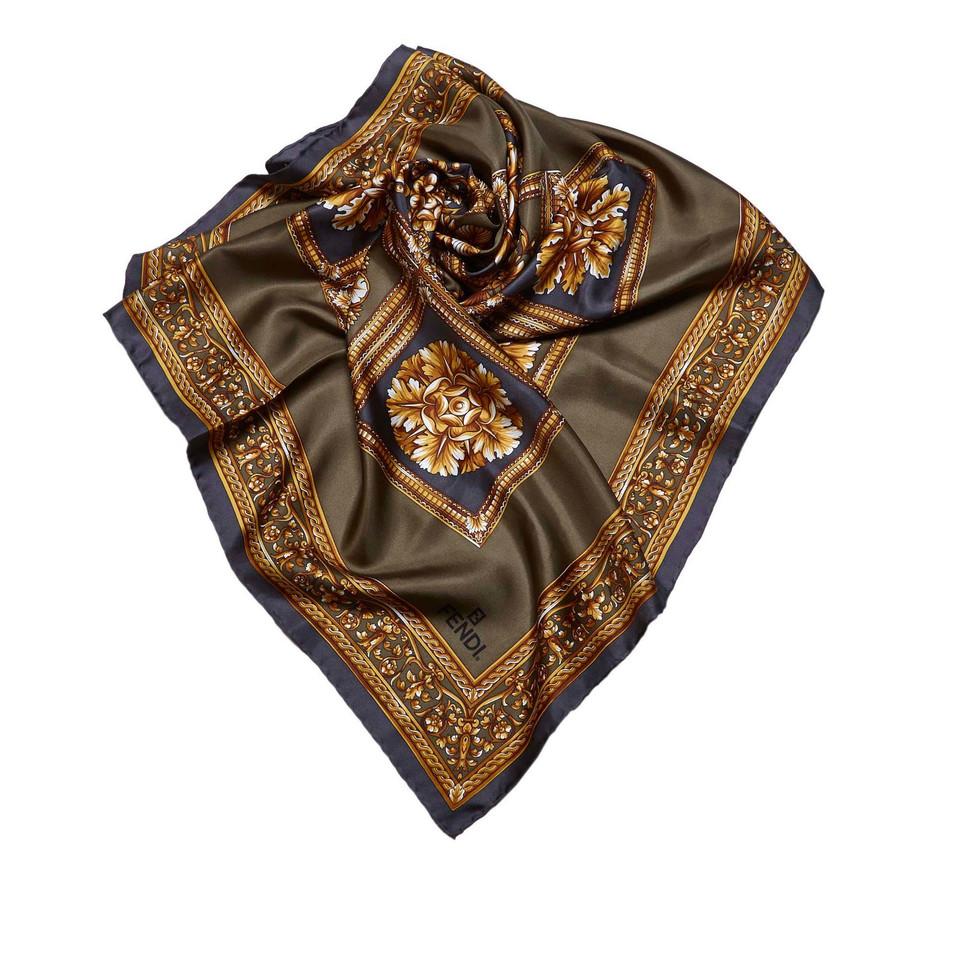 fendi floral silk scarf buy second fendi floral