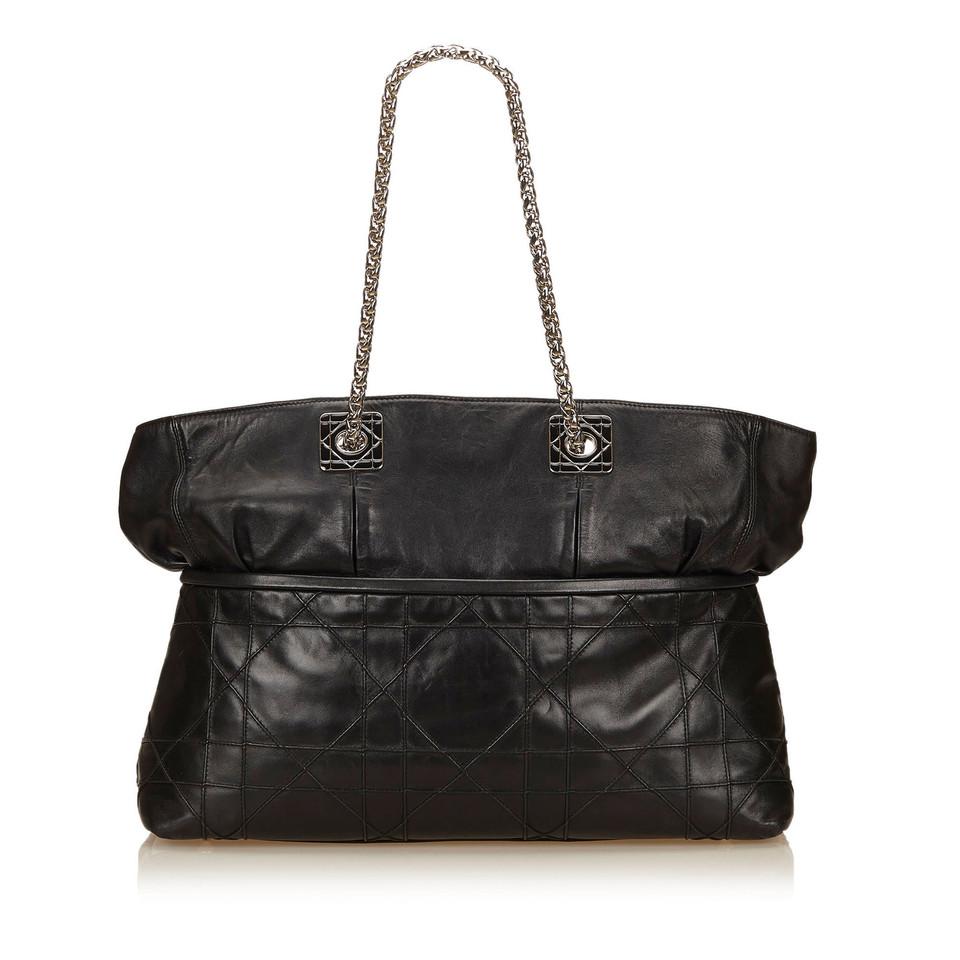 christian dior leder canage tote bag second hand. Black Bedroom Furniture Sets. Home Design Ideas