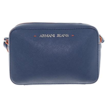 Armani Jeans Sac à bandoulière en bleu foncé