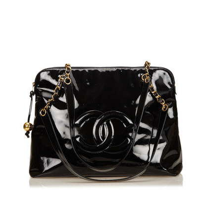 Chanel Patent Leren Chain Shoulder tas