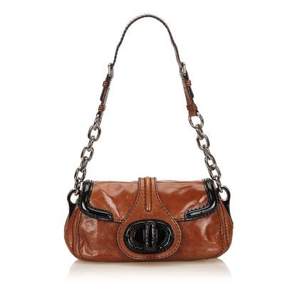Prada Patent Leather Chain Shoulder Bag