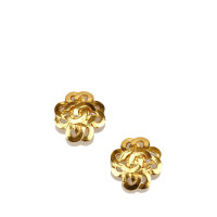 Chanel Orecchini Clip-On Gold-Tone CC