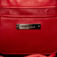 Miu Miu Studded Leather Shoulder Bag
