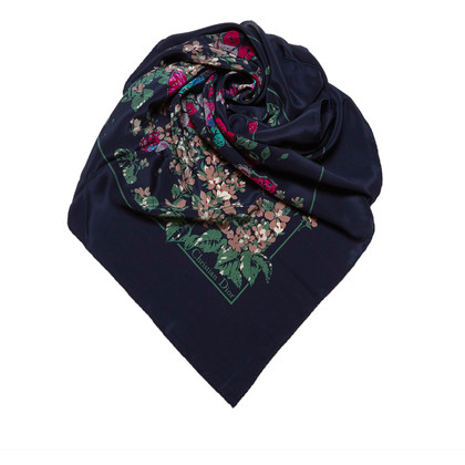 Christian Dior Garden Print Sjaal