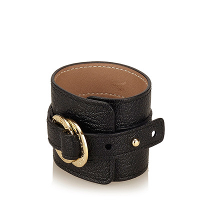 Bulgari Wide Leather Cuff