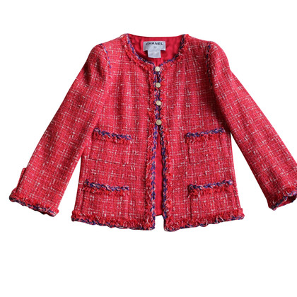 Chanel Tweed jacket in red