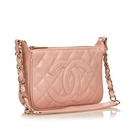 Chanel Kaviaar Leren Chain Shoulder tas
