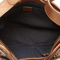 Céline Macadam Denim Shoulder Bag