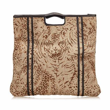 Chloé Printed Fiber Tote Bag