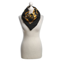 Hermès Silk scarf in black / yellow
