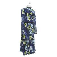 Erdem Seidenkleid mit floralem Muster