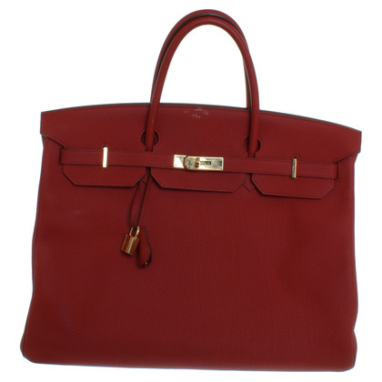 "Hermès ""Birkin Bag 40"" in red"